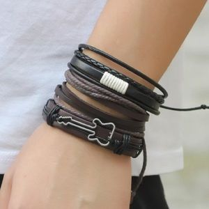 💍Guitar Unisex Leather Multistrand Bracelet